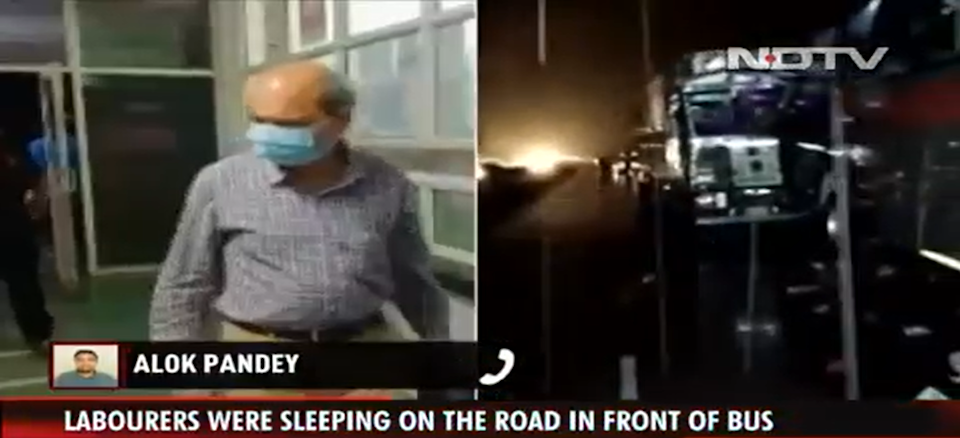 18 labourers were crushed to death by a truck in Uttar Pradesh on 27 July 2021 (Screengrab/NDTV)