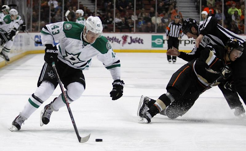 Dan Ellis, Stars shut out NHL-leading Ducks 2-0