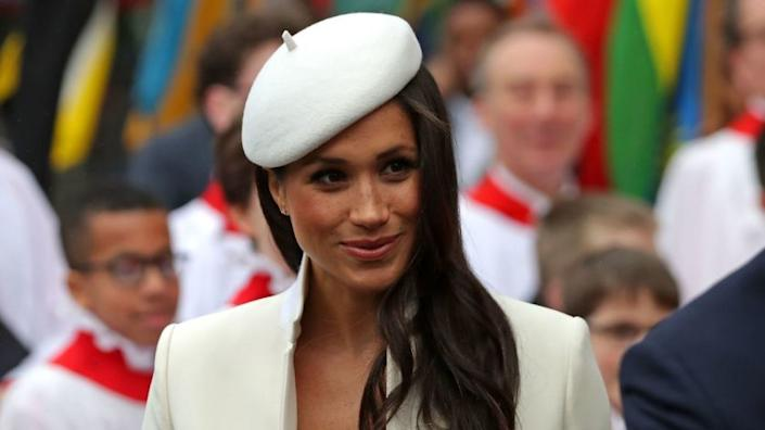 """Meghan Markle narrates a new nature documentary, """"Elephant,"""" for Disney+. <span class=""""copyright"""">(Daniel Leal-Olivas / AFP / Getty Images)</span>"""