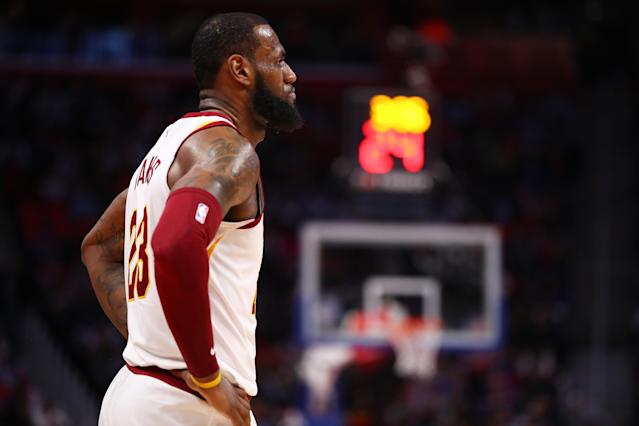 """Seven months ago, the prospect of <a class=""""link rapid-noclick-resp"""" href=""""/nba/players/3704/"""" data-ylk=""""slk:LeBron James"""">LeBron James</a> leaving Cleveland again seemed all but unthinkable. But unthinkable stuff is happening to the Cavs these days. (Getty)"""