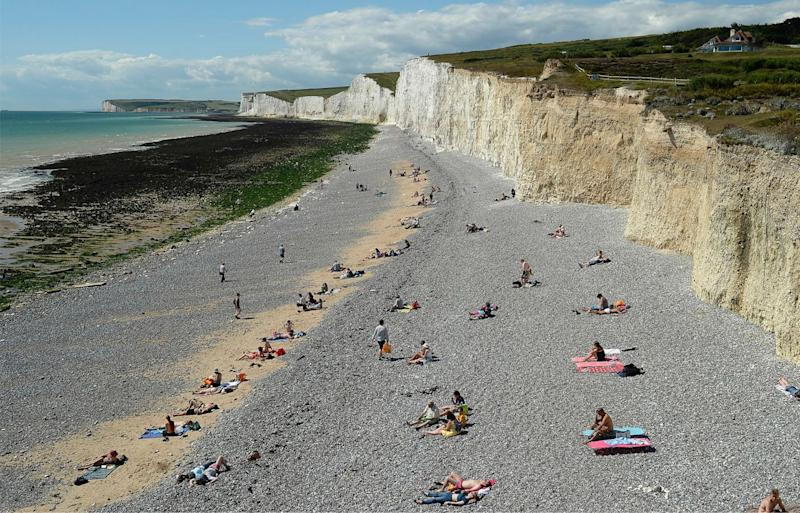 The Seven Sisters white chalk cliffs is a popular tourist spot at East Sussex, Birling Gap. Source: Getty Images, file