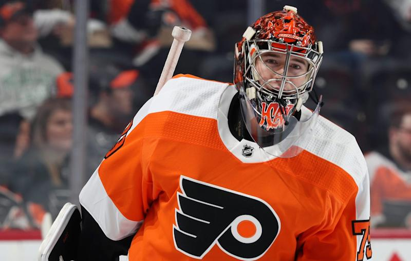 Flyers' Carter Hart to miss 2-3 weeks with abdominal injury
