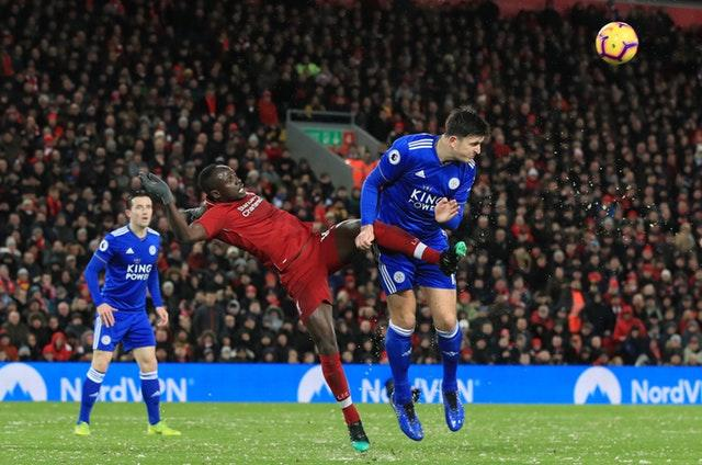 Harry Maguire, then a Leicester player, forced a 1-1 draw at Anfield in January 2019
