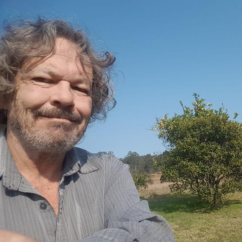 Barry Parsons is pictured in a selfie taken in a paddock.