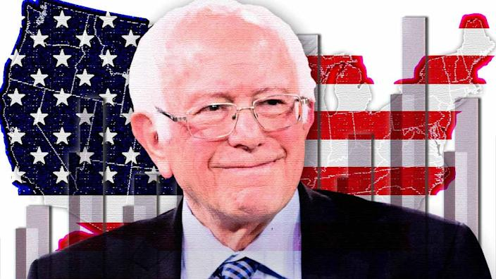 Senator Bernie Sanders. (Photo illustration: Yahoo News; Photos: AP [3], Getty Images)
