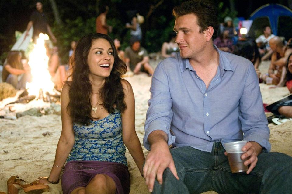 """<p>Proof that Hawaii is paradise: It's still an incredible getaway, even when your famous ex shows up with her new rockstar boyfriend. Jason Segel is at his funniest and most adorable in this endlessly quotable romantic comedy about a guy just trying to move on from a past relationship.</p> <p><em>Available to rent on</em> <a href=""""https://itunes.apple.com/us/movie/forgetting-sarah-marshall-unrated/id281004634"""" rel=""""nofollow noopener"""" target=""""_blank"""" data-ylk=""""slk:iTunes"""" class=""""link rapid-noclick-resp""""><em>iTunes</em></a><em>.</em></p>"""