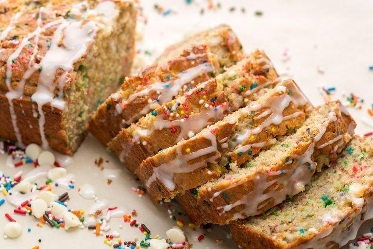 """<p>Your new favourite excuse to eat sprinkles for breakfast.</p><p>Get the <a href=""""https://www.delish.com/uk/cooking/recipes/a34726279/birthday-cake-banana-bread-recipe/"""" rel=""""nofollow noopener"""" target=""""_blank"""" data-ylk=""""slk:Birthday Cake Banana Bread"""" class=""""link rapid-noclick-resp"""">Birthday Cake Banana Bread</a> recipe.</p>"""