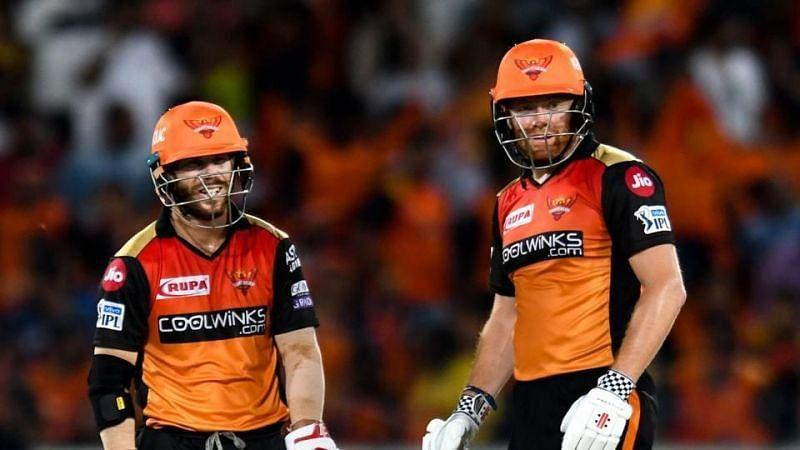 David Warner (left) and Jonny Bairstow (right) struck gold at the top of the order for Sunrisers Hyderabad in IPL 2019.