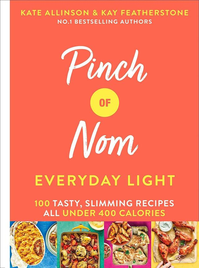 """<p>The second edition to the popular Pinch Of Nom series, this cookbook's recipes are all under 400 calories. From fish and chips to hash brown breakfasts, there's something for everyone.<br></p><p><a class=""""link rapid-noclick-resp"""" href=""""https://www.amazon.co.uk/Pinch-Nom-Everyday-Light-Slimming/dp/1529026407/ref=zg_bsnr_66_1?_encoding=UTF8&psc=1&refRID=FKNJHB07QFJJ7CRSG6CD&tag=hearstuk-yahoo-21&ascsubtag=%5Bartid%7C2159.g.28871146%5Bsrc%7Cyahoo-uk"""" rel=""""nofollow noopener"""" target=""""_blank"""" data-ylk=""""slk:PRE-ORDER NOW"""">PRE-ORDER NOW</a> <strong>Pinch of Nom Everyday Light, Amazon</strong></p>"""