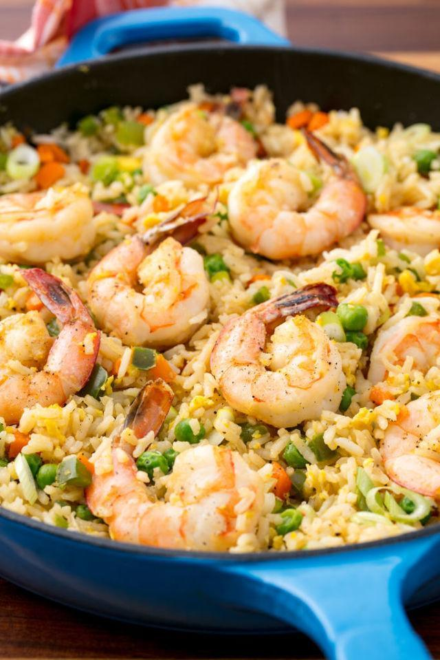 """<p>Takeout fried rice pales in comparison to this.</p><p>Get the recipe from <a href=""""http://www.delish.com/cooking/recipe-ideas/recipes/a53698/shrimp-fried-rice-recipe/"""" rel=""""nofollow noopener"""" target=""""_blank"""" data-ylk=""""slk:Delish"""" class=""""link rapid-noclick-resp"""">Delish</a>.</p>"""