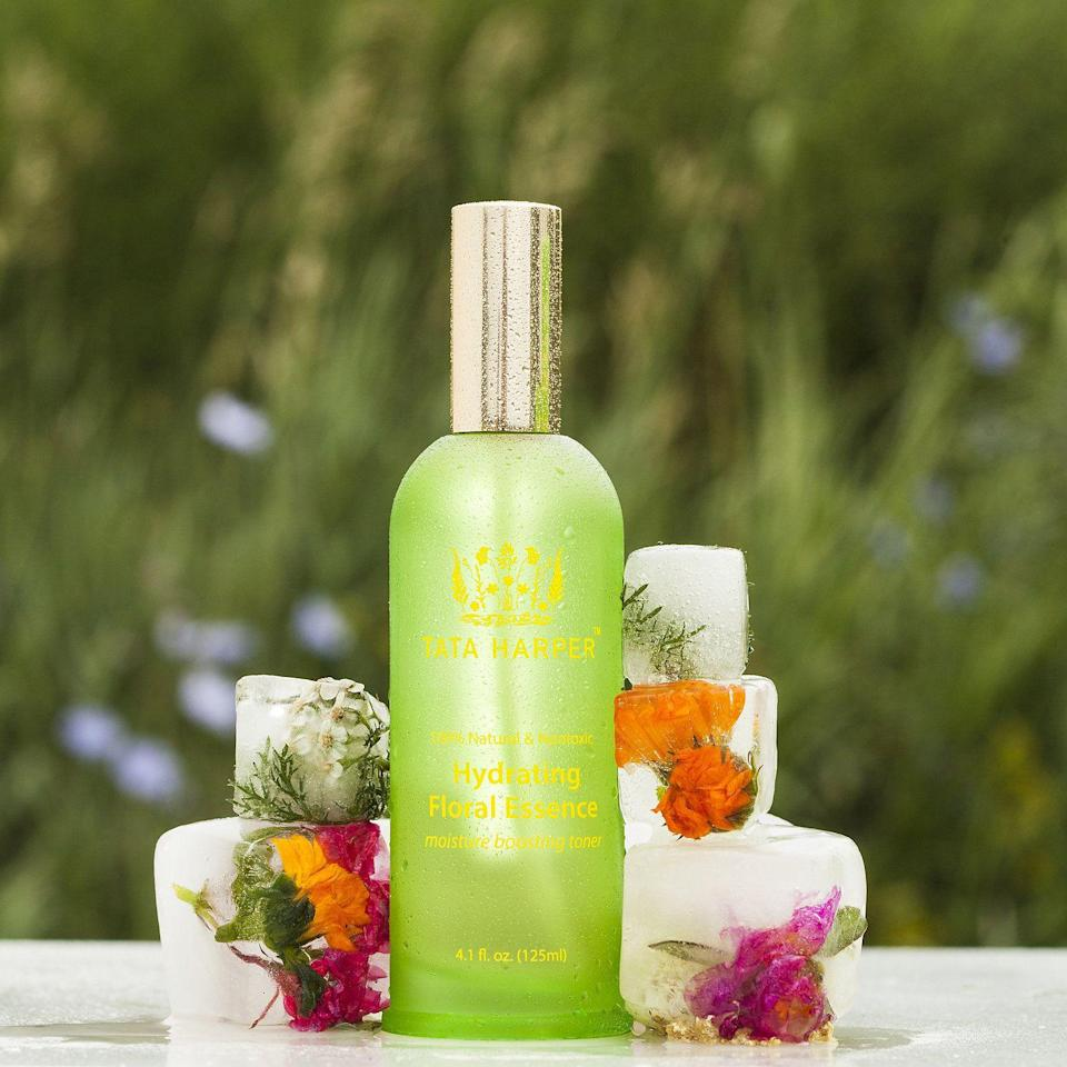 """<p><strong>Tata Harper</strong></p><p>sephora.com</p><p><strong>$72.00</strong></p><p><a href=""""https://go.redirectingat.com?id=74968X1596630&url=https%3A%2F%2Fwww.sephora.com%2Fproduct%2Fhydrating-floral-essence-P379705&sref=https%3A%2F%2Fwww.townandcountrymag.com%2Fstyle%2Fbeauty-products%2Fg33634970%2Fbest-face-mists%2F"""" rel=""""nofollow noopener"""" target=""""_blank"""" data-ylk=""""slk:Shop Now"""" class=""""link rapid-noclick-resp"""">Shop Now</a></p><p>Great to seal in moisture, dry skin types will find that this mist not only smells delectable, but really does the trick in adding an extra touch of hydration, no matter the time of day. </p>"""