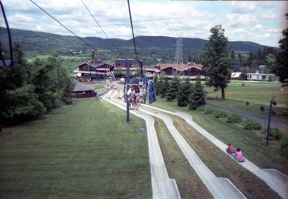 """<p>For people who grew up in the New Jersey area in the '80s, Action Park was an infamous theme park full of injury-inducing rides — the park was given nicknames like """"Accident Park"""" or """"<a href=""""https://www.classactionpark.com/"""" rel=""""nofollow noopener"""" target=""""_blank"""" data-ylk=""""slk:Class Action Park"""" class=""""link rapid-noclick-resp"""">Class Action Park</a>"""" (the title of an upcoming documentary about the place). One such attraction was the Alpine Slide — which was described in <em>History</em> by a park-goer as """"essentially a giant track to <a href=""""https://www.history.com/news/the-rise-and-fall-of-action-park-new-jerseys-most-dangerous-water-park"""" rel=""""nofollow noopener"""" target=""""_blank"""" data-ylk=""""slk:rip people's skin off"""" class=""""link rapid-noclick-resp"""">rip people's skin off</a> that was disguised as a kid's ride."""" But, in a park full of bad ideas, the <a href=""""https://www.youtube.com/watch?v=Apd51YKiXhQ"""" rel=""""nofollow noopener"""" target=""""_blank"""" data-ylk=""""slk:Cannonball Loop"""" class=""""link rapid-noclick-resp"""">Cannonball Loop</a> stands out as being particularly misguided: The enclosed waterslide often didn't give riders enough momentum to make it through the inversion, so park operators reportedly had to install a hatch at the bottom for stuck riders to escape through. Though there is video of riders <a href=""""https://theconcourse.deadspin.com/rare-video-of-people-actually-riding-action-parks-infam-1563953390"""" rel=""""nofollow noopener"""" target=""""_blank"""" data-ylk=""""slk:making it through the loop"""" class=""""link rapid-noclick-resp"""">making it through the loop</a>, the slide was shut down very quickly after it debuted in 1985.</p>"""