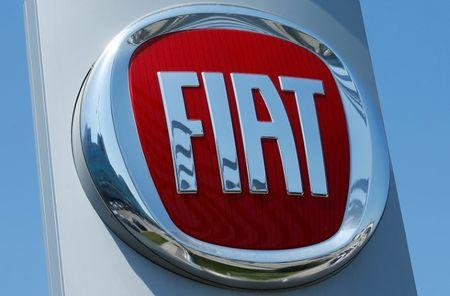 FILE PHOTO: A Fiat logo is seen at a car dealership in Vienna