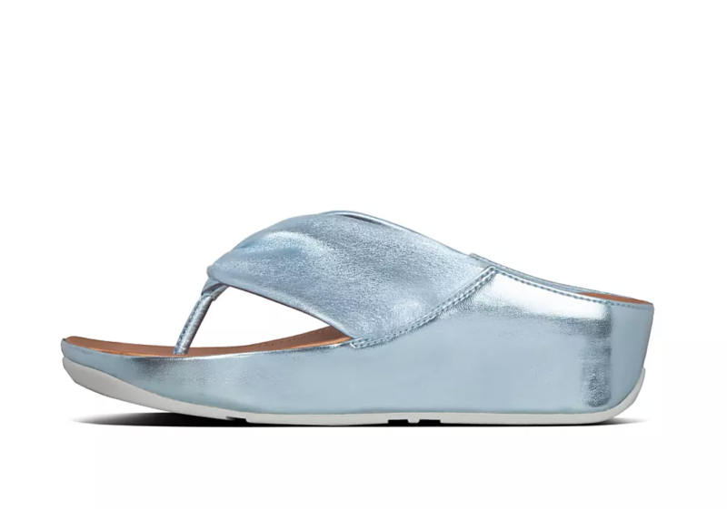 Twiss Metallic Leather Toe-Post Sandals. Image via Fitflop.