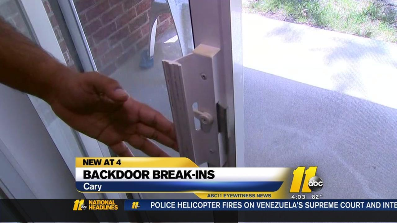 Cary police are urging homeowners to take precautions after a string of daytime home break-ins.