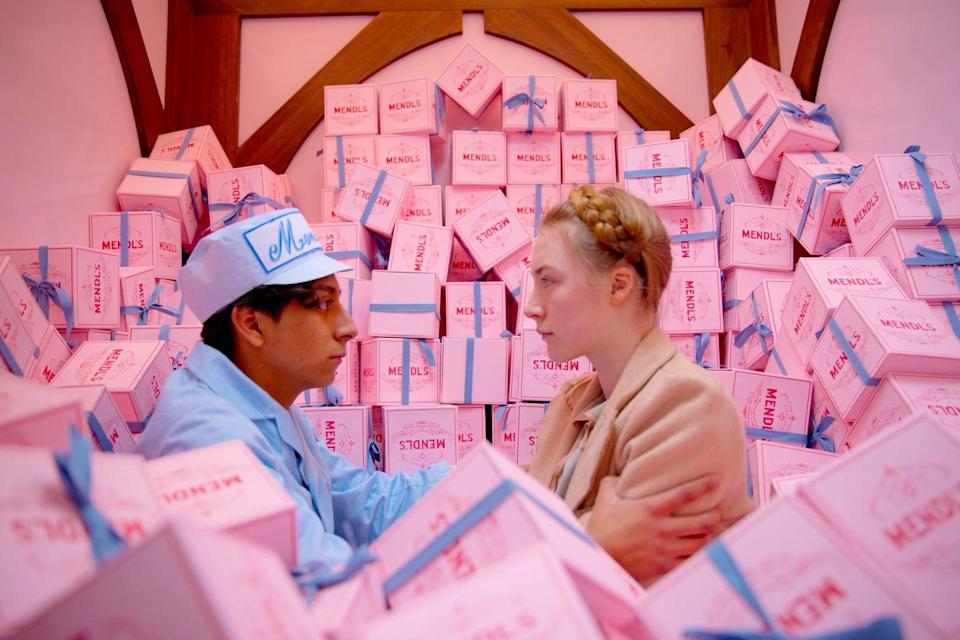 """<p><a class=""""link rapid-noclick-resp"""" href=""""https://www.amazon.com/Grand-Budapest-Hotel-Ralph-Fiennes/dp/B00JB3AOEY/ref=sr_1_1?crid=1H0UB8E4FGYC9&dchild=1&keywords=the+grand+budapest+hotel&qid=1607451163&s=instant-video&sprefix=the+grand+%2Cinstant-video%2C227&sr=1-1&tag=syn-yahoo-20&ascsubtag=%5Bartid%7C10058.g.2509%5Bsrc%7Cyahoo-us"""" rel=""""nofollow noopener"""" target=""""_blank"""" data-ylk=""""slk:watch"""">watch</a></p><p>The king of aesthetics, Mr. Wes Anderson, strikes gold with this fun mystery movie set at a hotel at a famous European ski resort in the 1930s. Known for pleasing their guests in exciting ways (read: sleeping with them), things start to go out of control when a guest winds up dead, and the ever so charming Monsieur Gustave H. (Ralph Fiennes) is framed. </p>"""