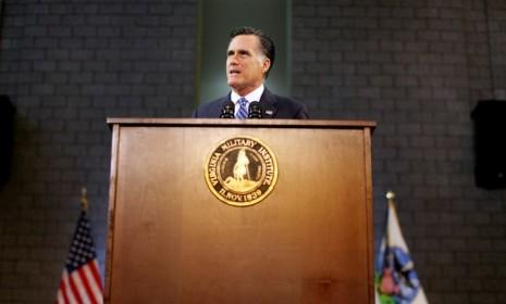 During a foreign policy speech on Oct. 8, Mitt Romney derided President Obama for having weakened America on the international stage.