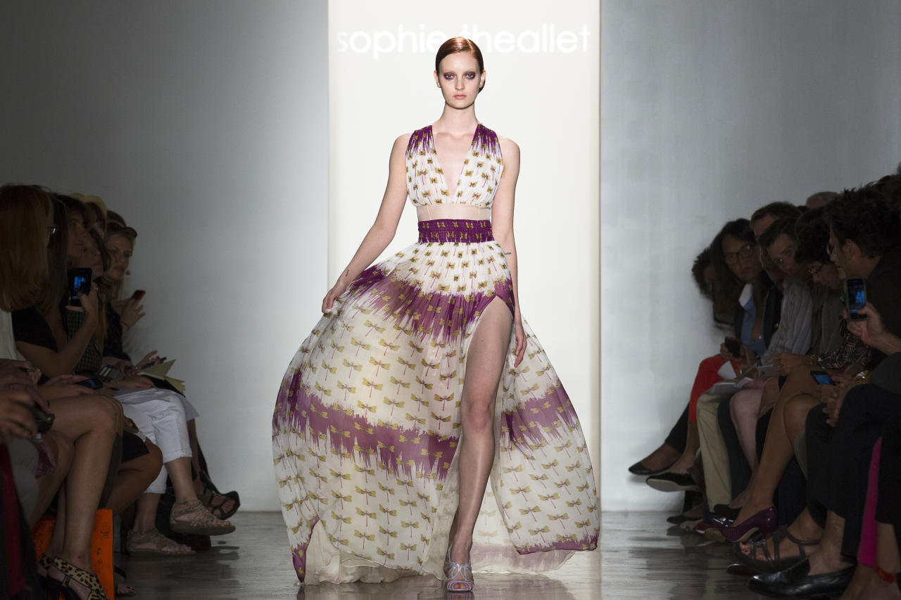 The Sophie Theallet Spring 2013 collection is modeled during Fashion Week in New York, Tuesday, Sept. 11, 2012. (AP Photo/John Minchillo)