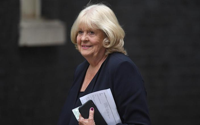 Dame Cheryl Gillan arriving for meeting being held at 10 Downing Street, who died at the weekend after a long illness. - PA