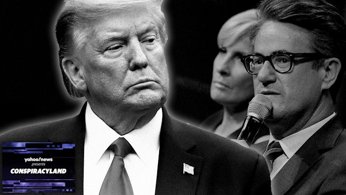 President Donald Trump, Mika Brzezinski and Joe Scarborough. (photo illustration: Yahoo News; photos: AP, Shannon Finney/WireImage via Getty Images)