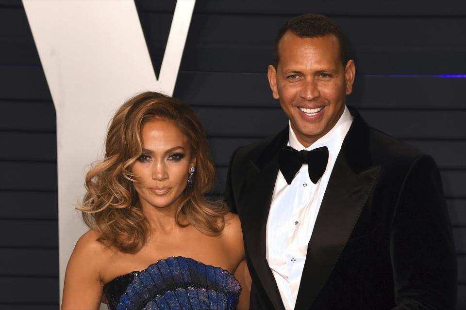 Alex Rodriguez and Jennifer Lopez are being sued over 2018 car accident. (AP)