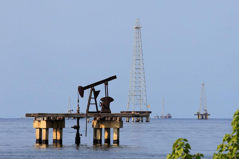 Oil facilities are seen on Lake Maracaibo in Cabimas