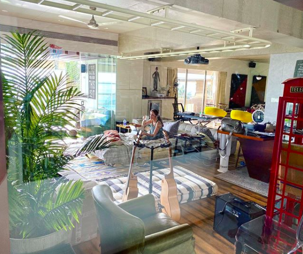 Hrithik Roshan's home looks spacious with accents of colour.