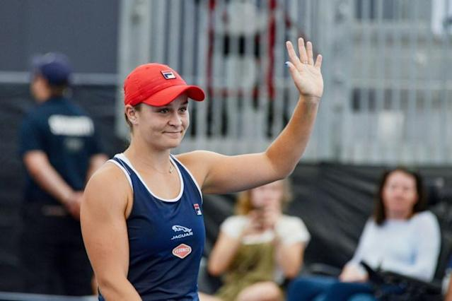 Ashleigh Barty lost her opening match last week in Brisbane and is looking for crucial court time before the Australian Open (AFP Photo/Brenton EDWARDS)