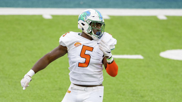 Tulane's Cameron Sample had a great Senior Bowl week for the American Team. (AP Photo/Matthew Hinton)