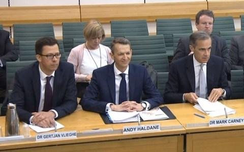 Gertjan Vlieghe, Andy Haldane and Mark Carney - Credit: PA Wire