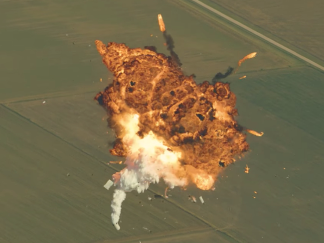 SpaceX releases rocket explosion blooper reel