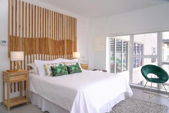 """<p><strong>Long Bay Hills, Turks and Caicos Islands</strong></p> <p>Daily housekeeping is included, so keeping the space clean in these pet-friendly accommodations is a breeze. The Long Bay Beach–based Lifestyle Resort studio is centrally located in Turks and Caicos on a popular spot for kiteboarding, and studio guests have access to the kayaks and paddle boards. Interested in a less sporty trip? Catch some zen time in the infinity pool or hot tub.</p> $122, Airbnb. <a href=""""https://www.airbnb.com/rooms/49075759"""" rel=""""nofollow noopener"""" target=""""_blank"""" data-ylk=""""slk:Get it now!"""" class=""""link rapid-noclick-resp"""">Get it now!</a>"""