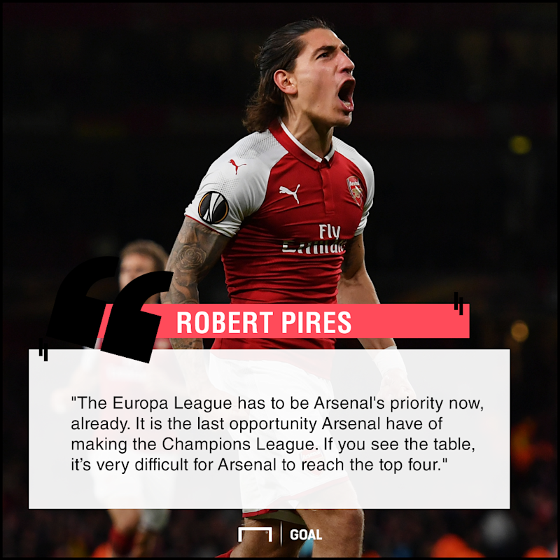 Arsenal have to prioritise Europa League' - Pires sees top