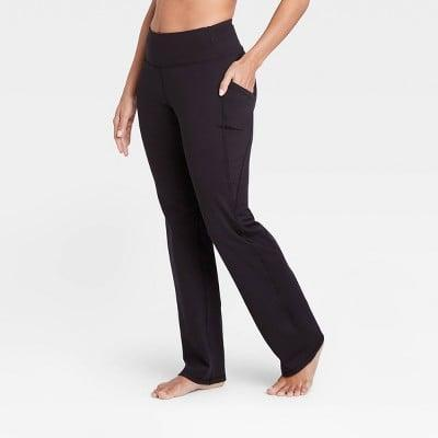 <p>If you want a pair of yoga pants you'll never take off, these <span>All in Motion Contour Curvy High-Waisted Straight Leg Pants with Power Waist</span> ($28) are it.</p>