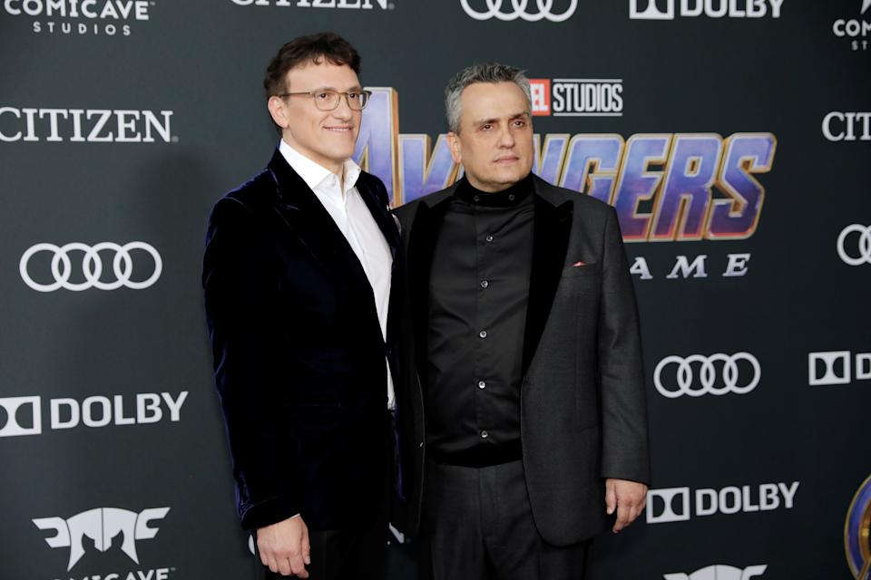 Directors Anthony Russo and Joe Russo at the world premiere of movie Avengers: Endgame in Los Angeles, California, U.S., April 22, 2019. REUTERS/Monica Almeida
