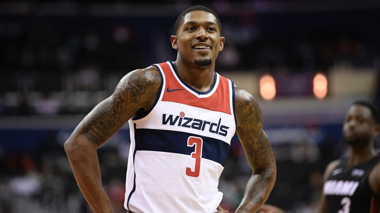 Bradley Beal couldn't help but joining his girlfriend in a diet of pizza and ice cream during her pregnancy, gaining 20 pounds in the process.