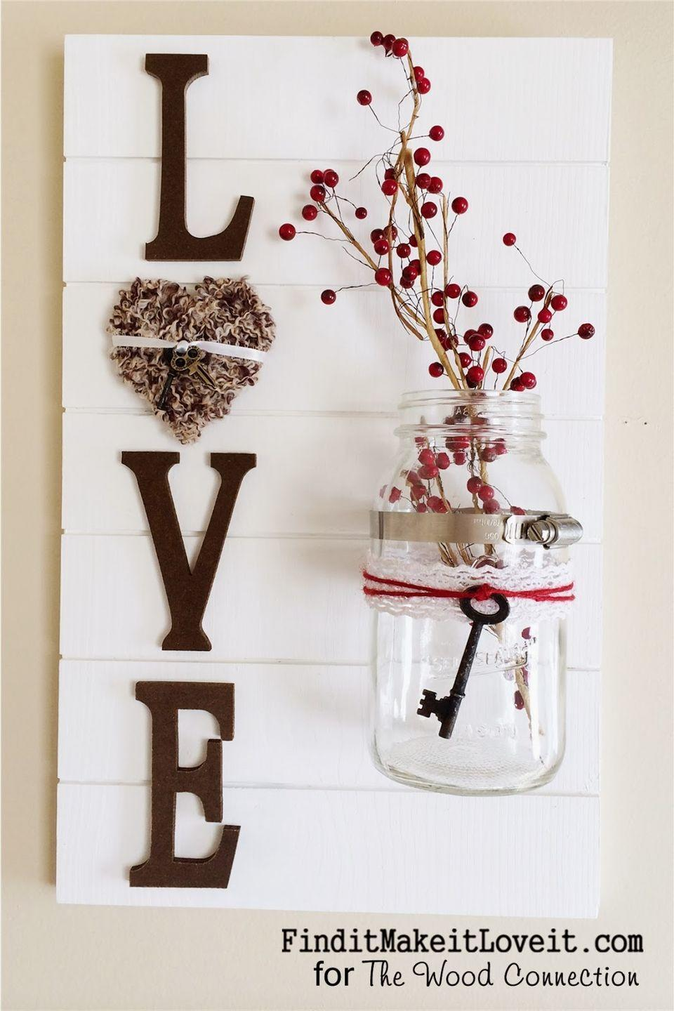 """<p>Just admit it: This """"love"""" slat sign is pretty enough to keep up all year long. </p><p><strong>Get the tutorial at <a href=""""http://www.thewoodconnectionblog.com/loveslatsign/"""" rel=""""nofollow noopener"""" target=""""_blank"""" data-ylk=""""slk:The Wood Connection"""" class=""""link rapid-noclick-resp"""">The Wood Connection</a>.</strong></p>"""