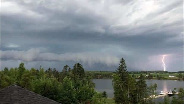The line of storms moved east only slowly. This is a file photo taken in 2020. (Submitted by Monique Horne - image credit)