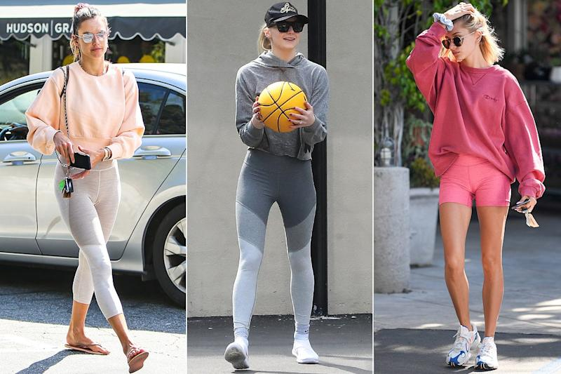 b7cca720a The One Leggings Brand That Hailey Bieber, Sophie Turner, and Tons More  Celebs Can't Stop Wearing