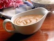 <p>If you burn gravy and don't have enough time—or pan drippings—to start from scratch, stir in a teaspoon of smooth peanut butter for each cup of gravy. This should eliminate any burned taste.</p>