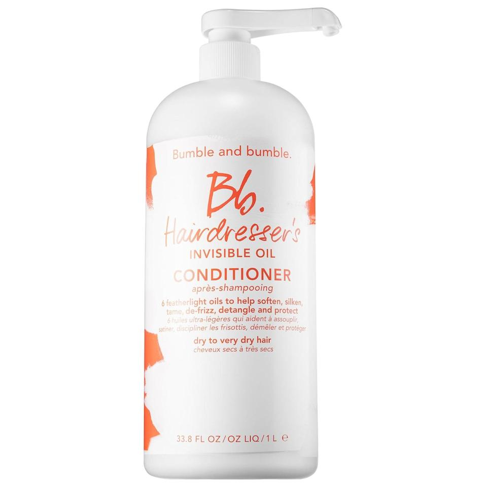 <p>The rich coconut oil in this bestselling <span>Bumble and Bumble Hairdresser's Invisible Oil Conditioner</span> ($13-$79) is joined by five other lightweight oils to smooth and hydrate hair without weighing it down in the process.</p>