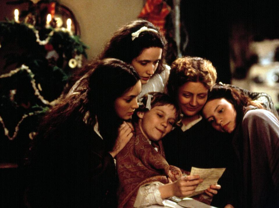 "<p>Although <strong>Pride and Prejudice</strong> is a romantic comedy, at its heart it's also a story of sisters who love each other and get on each other's nerves in equal measure. That's also true of <strong>Little Women</strong>, the story of four sisters in Civil War-era New England who struggling with growing up, falling in love, and figuring out where their lives will take them.</p> <p><a href=""http://www.amazon.com/Little-Women-Winona-Ryder/dp/B000SOZXGY"" class=""link rapid-noclick-resp"" rel=""nofollow noopener"" target=""_blank"" data-ylk=""slk:Watch Little Women on Amazon Prime"">Watch <strong>Little Women</strong> on Amazon Prime</a>.</p>"