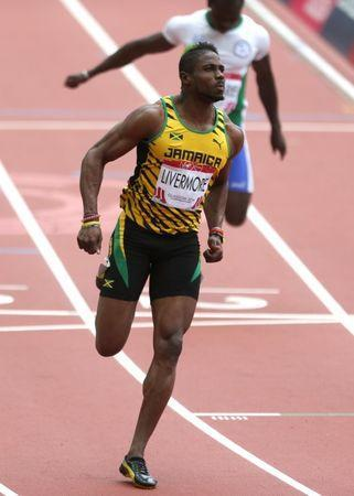 FILE PHOTO - Commonwealth Games Glasgow, Scotland - 27/7/14 Jason Livermore of Jamaica during the Men's 100m .Mandatory Credit: Action Images / Steven Paston