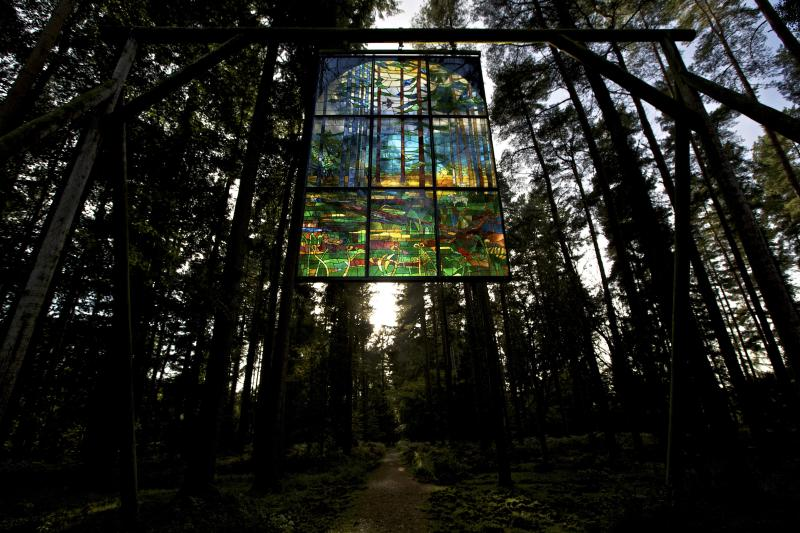 The stained glass window hidden in the Forest of Dean, Beechenhurst