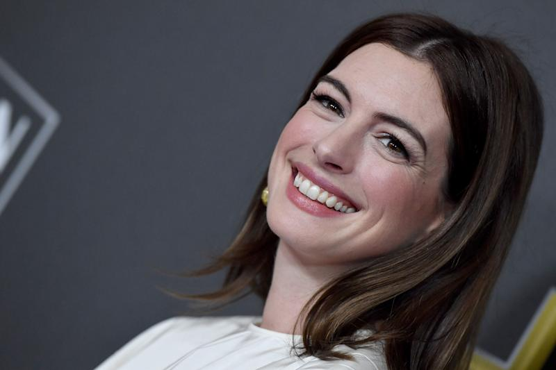 Hathaway attends the 22nd Annual Hollywood Film Awards at The Beverly Hilton Hotel on November 4, 2018, in Beverly Hills, California. (Photo: Axelle/Bauer-Griffin via Getty Images)