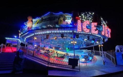 The Ice Jet, in all of its white-knuckle glory - Credit: @Fairgroundking1