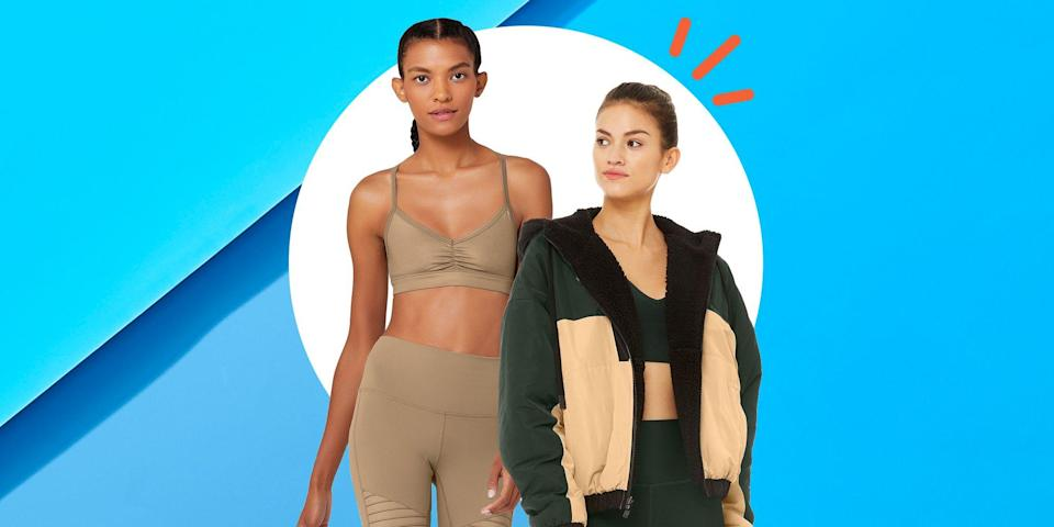 """<p>If almost a year of wearing leggings and biker shorts in lieu of """"real pants"""" has your athleisure arsenal looking a bit worse for wear, you're not alone. That's where holy grail athletic wear brand Alo Yoga comes in. </p><p>The brand just did a low-key restock on its <a href=""""https://go.redirectingat.com?id=74968X1596630&url=https%3A%2F%2Fwww.aloyoga.com%2Fcollections%2Fwomens-sale-all&sref=https%3A%2F%2Fwww.prevention.com%2Ffitness%2Fg35604950%2Falo-yoga-sale-restock%2F"""" rel=""""nofollow noopener"""" target=""""_blank"""" data-ylk=""""slk:sale section"""" class=""""link rapid-noclick-resp"""">sale section</a> (one of my favorite places on the internet right now) and the drop includes leggings, fleece jackets, sport bras, and more. For up to 40 percent off right now, hitting """"add to cart"""" on every one of your favorites is truly a no-brainer. </p><p>Seeing as the cult-favorite activewear brand sells out of full-priced styles nearly every day, I for one do not plan on procrastinating on these deals. Ahead, I've rounded up some of the best finds, all of which are still available in most sizes at the time of publication. </p><p>From the moto leggings every celebrity from Taylor Swift to Katie Holmes has had paparazzi pics snapped in, to cloud-like pullovers, there's a little bit of something for everyone. Whether your favorite leggings see more Netflix than yoga mats or Peloton bikes, or you're in dire need of a restock on some good quality sports bras for your morning runs, Alo Yoga is a go-to for essentials that look just as good on your Instagram grid as they feel on your body.</p><p>Below, check out our favorite deals from Alo Yoga's latest restock that you can't afford miss. </p>"""