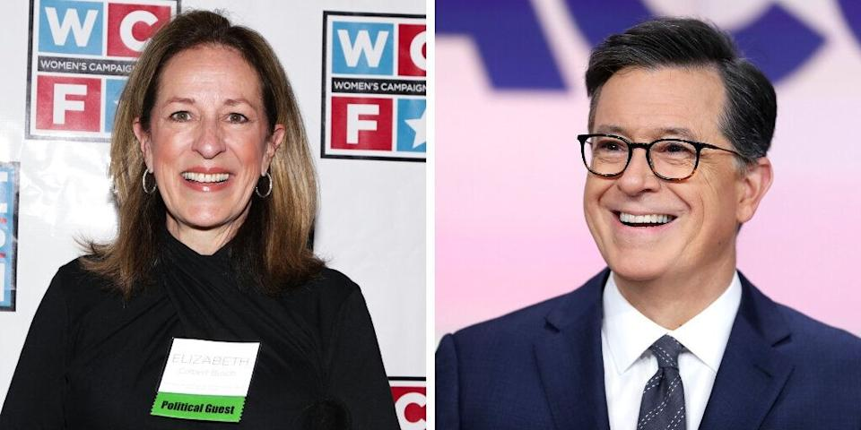 """Late Show"" host <a href=""https://www.huffpost.com/entertainment/topic/stephen-colbert"" target=""_blank"" rel=""noopener noreferrer"">Stephen Colbert'</a>s sister is economist and politician <a href=""https://en.wikipedia.org/wiki/Elizabeth_Colbert_Busch"">Elizabeth Colbert Busch,</a> who was the Democratic Party nominee for the 2013 special election for South Carolina's 1st Congressional District. (She lost to Mark Sanford.)"