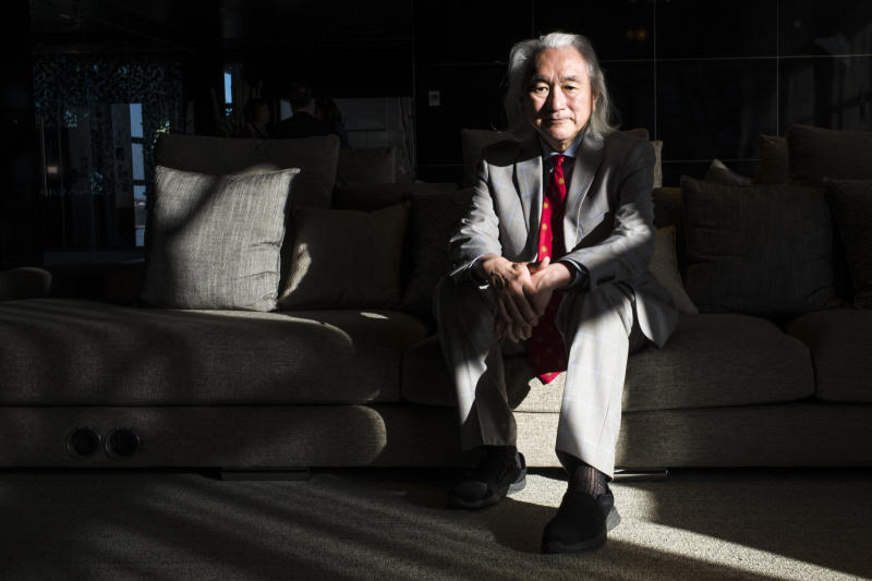 Dr. Michio Kaku at the 2019 Ufology World Congress in Barcelona, Spain. Photo: José Colon for Yahoo News)