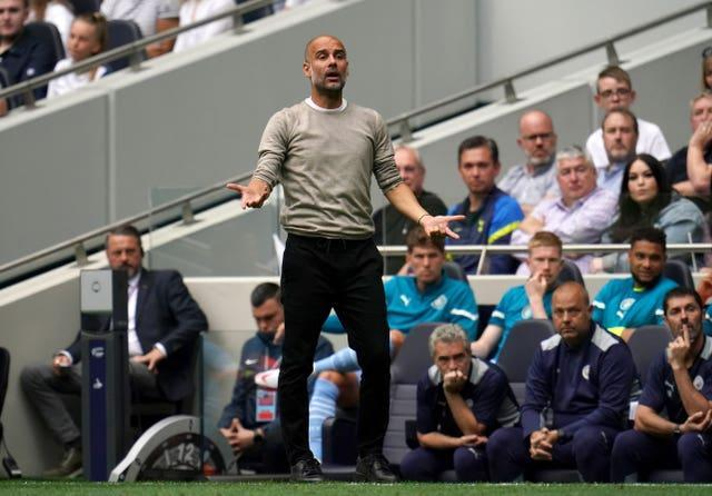 Manchester City manager Pep Guardiola saw his side struggle in front of goal